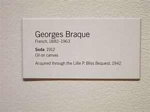 georges braque quotsodaquot 1912 museum of modern art With exhibition labels template