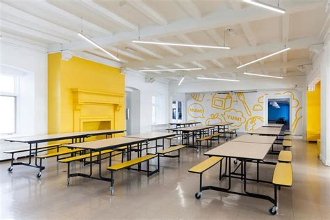 interior designers institute inspiring colorful interior design of a school in