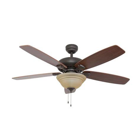 home depot outdoor fans hton bay glendale 52 in oil rubbed bronze ceiling fan