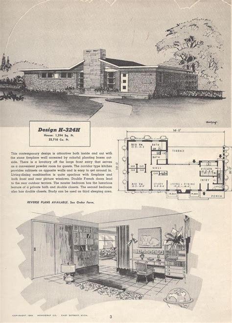 vintage house plans  vintage house plans mid century modern house plans southern house plans