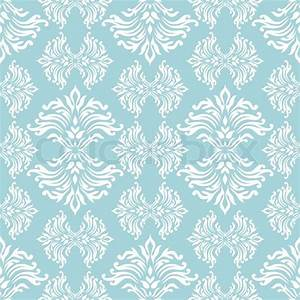 Light blue floral background with flowing design that ...