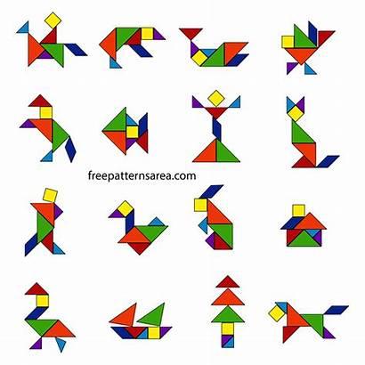 Tangram Puzzle Puzzles Shapes Template Freepatternsarea Printable