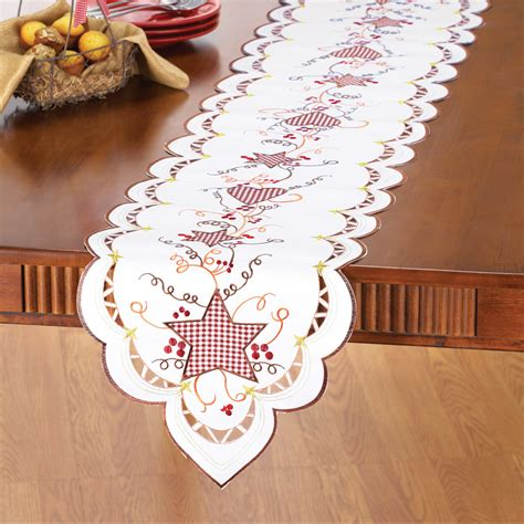 hearts and kitchen collection country hearts and stars table linens by collections etc