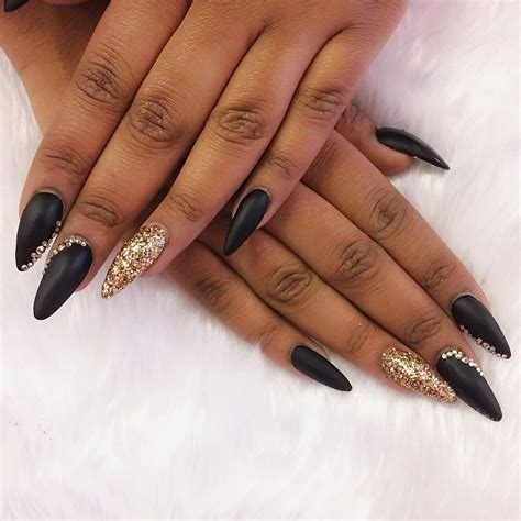 Prom Nails Black Flowers Gardening Flower And Vegetables