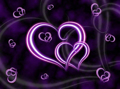 Purple Heart Wallpaper Background Theme Desktop