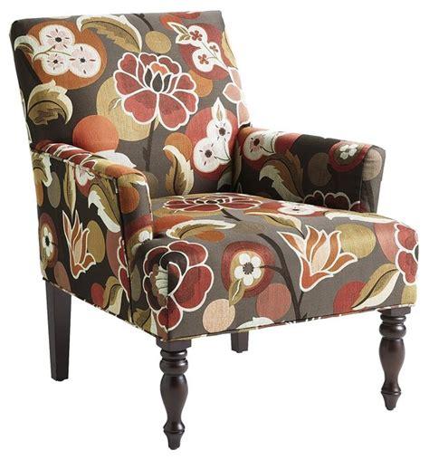 liliana armchair bold floral spice contemporary