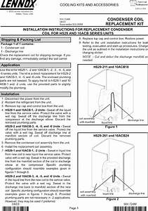 Lennox Air Conditioner  Heat Pump Outside Unit  Manual L0805471
