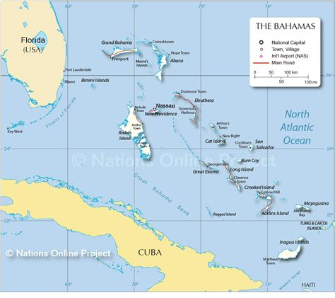 map   bahamas nations  project