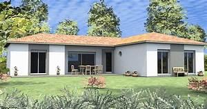 maison contemporaine modele With modele de maison en l