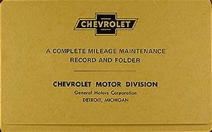 1956 Chevy Bel Air Convertible Reprint Owner U0026 39 S Manual Package