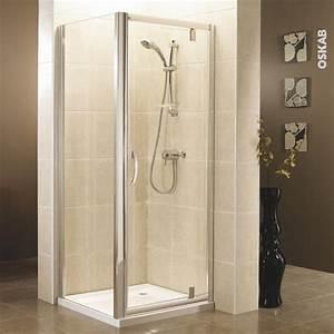 paroi de douche fixe laterale olympe 90 cm verre With porte de douche coulissante avec oskab meuble salle de bain