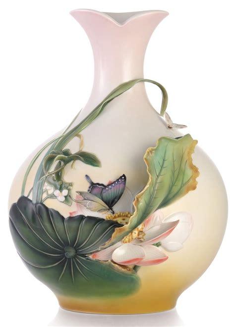 franz porcelain vase fz03327 franz porcelain jovial blossom lotus flower