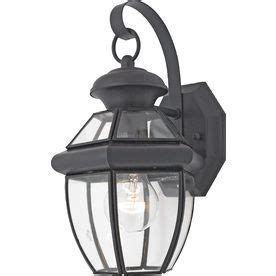 portfolio brayden 12 in h mystic black outdoor wall light