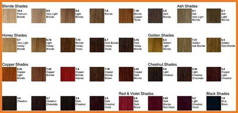 Ion Demi Permanent Hair Color Chart Coloringsite
