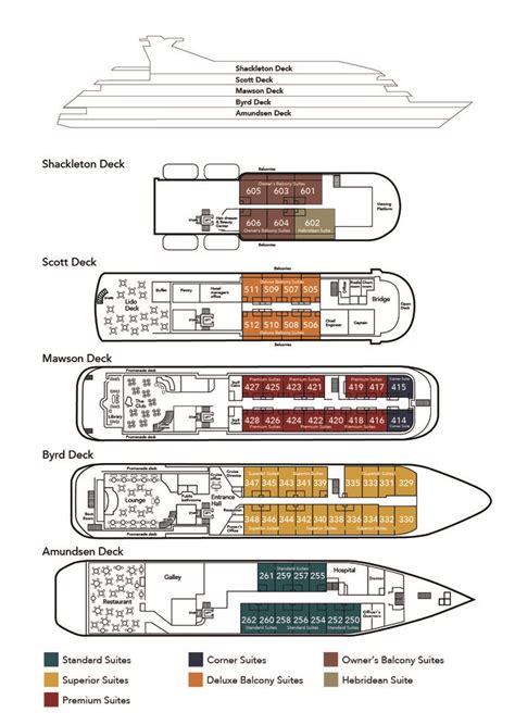 Ms Princess Deck Plan by Ms Hebridean Sky Cruise Ship Noble Caledonia