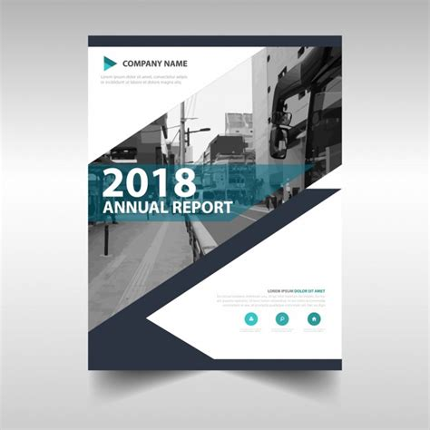 free annual report creative annual report book cover template vector free