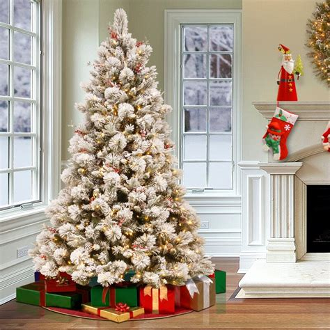 snowy bedford  frosted green pine artificial christmas