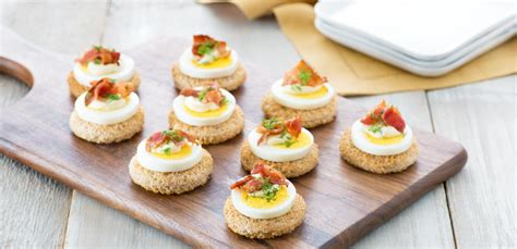 canape ideas egg and bacon canapés eggs ca