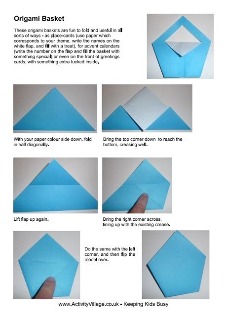 Origami Basket Instructions