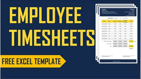 employee timesheets excel template time card work