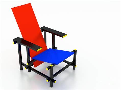 rietveld chair top view digital by jan brons