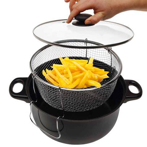 friteuse et cuisine poele friteuse pour plaque vitrocéramique et gaz sauf