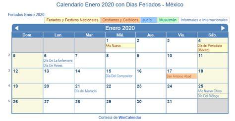 calendario enero imprimir mexico