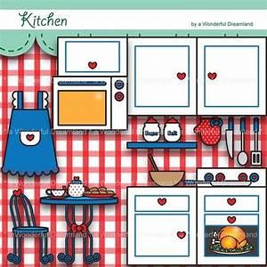 Printable Digital Clipart Clip Art PDF PNG File - Kitchen ...
