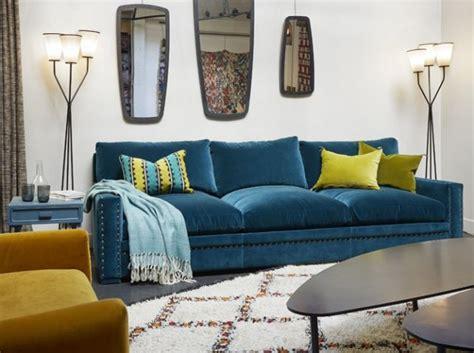 canape fixe 2 places conforama coup de cœur pour le canapé en velours bleu rise and shine