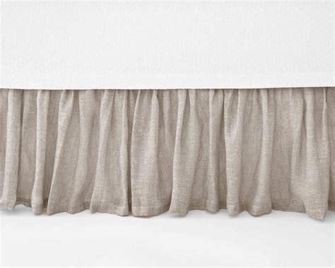 Pine Cone Hill Savannah Linen Gauze Dove Grey Bed Skirt