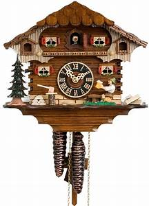 hones, chalet, style, one, day, cuckoo, clock, cottage, with, man, drinking, beer
