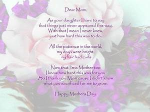 17 Best images about Daughter Mothers | Mothers, Poem for ...