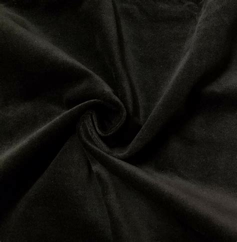 Upholstery Velvet by Stretch Black Cotton Velvet Velour Fabric Upholstery