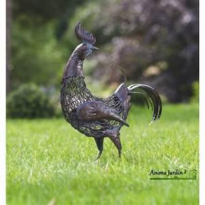 Decoration Jardin Metal : coq en m tal animal d coratif stylis ext rieur ~ Teatrodelosmanantiales.com Idées de Décoration
