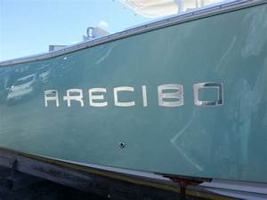domed boat name in chrome at domedletteringcom With raised vinyl boat lettering