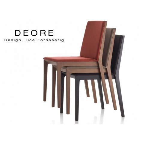 chaise bois design chaise design bois deore piétement peint assise et