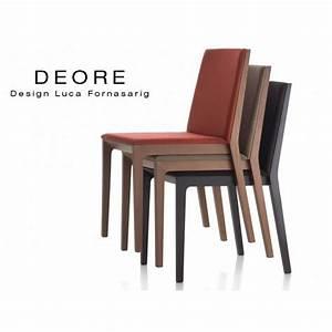 Chaise Bois Design : chaise design bois deore pi tement peint noir assise et dossier garnis habillage tissu ~ Teatrodelosmanantiales.com Idées de Décoration