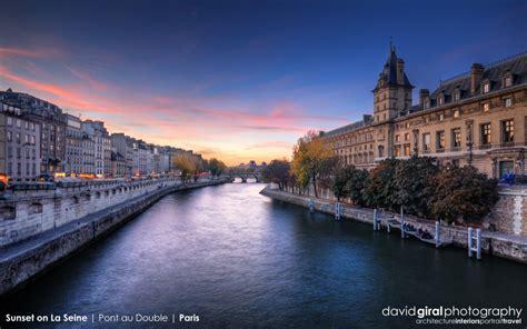 Beautiful Sunset On La Seine