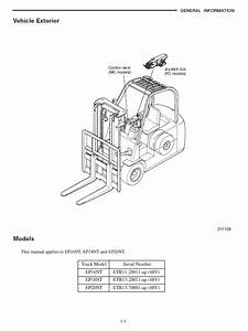 Caterpillar Ep16nt  Ep18nt  Ep20nt Forklift Service Manual Pdf