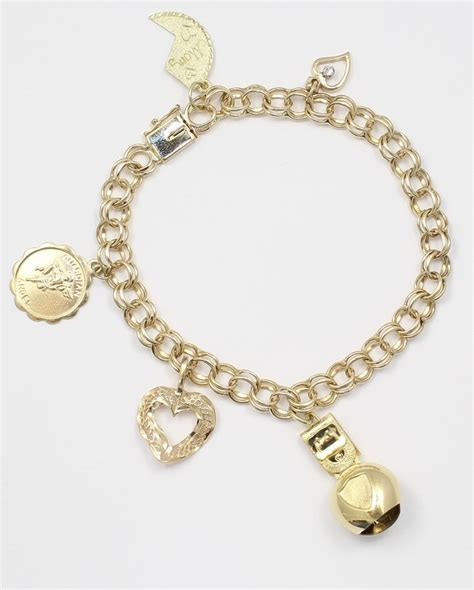 gold bracelet 14k 14k yellow gold charm bracelet with charm bracelet
