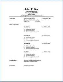 resume format pdf sle resume format september 2015