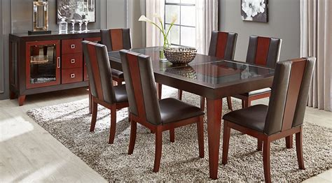 Rooms To Go Dining Room Sets by Sofia Vergara Savona Chocolate 5 Pc Rectangle Dining Room