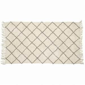 Tapis Gris Blanc : tapis geometrique blanc gris hubsch 740303 ~ Teatrodelosmanantiales.com Idées de Décoration