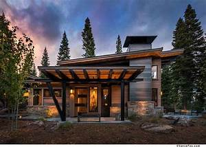 This modern mountain retreat is ideal place to unwind for Modern mountain home plans