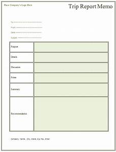 Trip Report Memo Template For Business Trips