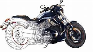 Drawn motorcycle harley davidson - Pencil and in color ...