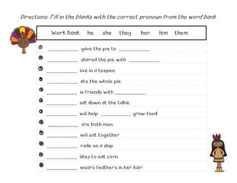 worksheets pronouns worksheets for all