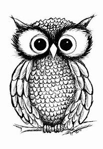 I love this Owl Illustration. Would make a fantastic ...
