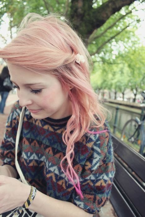 cute girls pink hairstyle for spring hairstyles weekly