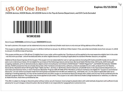 Promo Code Barnes And Noble by Barnes And Noble Coupons Printable And Coupon Codes